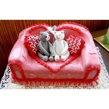 ПР 042 Торт с диваном и котятами