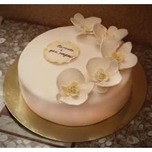 ПР 050 Торт белый с цветами