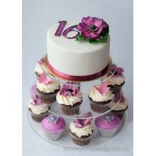 РМ 115 Торт фиолетовый цветок