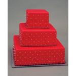 СВ 054 Торт свадебный красный