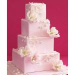 СВ 057 Торт свадебный розовый с цветами