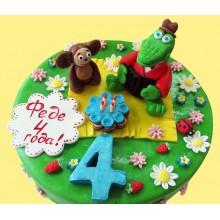 ДТ 021 Торт с чебурашкой и крокадилом Геной