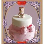 РМ 002 Торт с мишкой и с бантом