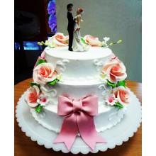 СВ 007 Торт свадебный с фигурками