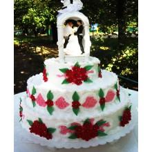 СВ 012 Торт свадебный с фигурками