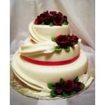 СВ 019 Торт свадебный с цветами