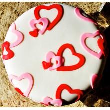 РМ 009 Белое седце с красными сердечками