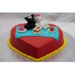 РМ 013 Торт с котятами романтический