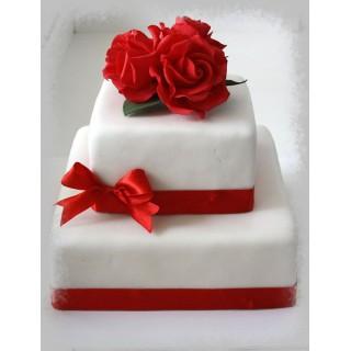 СВ 082 Торт двухярустный квадратный с розами