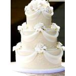 БСВ 01 Торт свадебный белоснежный