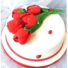 РМ 226 Торт на 8ое марта красные тюльпаны