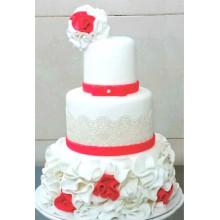 БСВ 120 Торт свадебный красивые розы