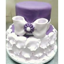 СВ 66 Торт сиреневый с белым свадебный