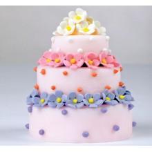 ПР 77 Торт разноцветные цветочки