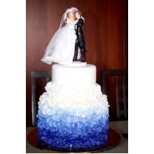 БСВ 99 Торт Свадебный синее амбре