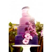 БСВ 04 Торт свадебный фиолетовый амбре