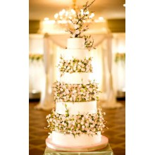 БСВ 05 Торт свадебный много цветов