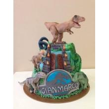 Торт Драконы и динозавры (3358)