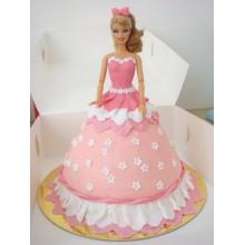 Торт кукла барби (3411)