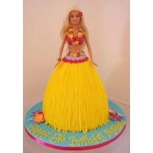 Торт кукла барби (3413)