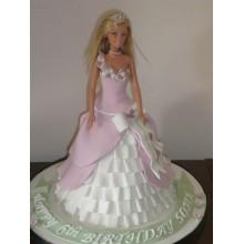 Торт кукла барби (3415)