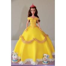 Торт кукла барби (3416)