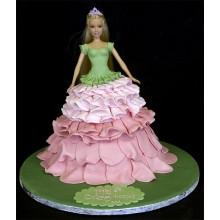 Торт кукла барби (3417)