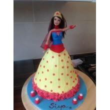 Торт кукла барби (3418)