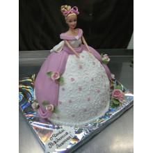 Торт кукла барби (3419)