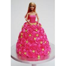 Торт кукла барби (3420)