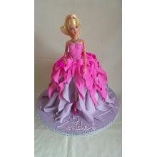 Торт кукла барби (3422)