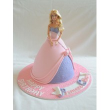Торт кукла барби (3423)
