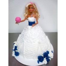 Торт кукла барби (3424)