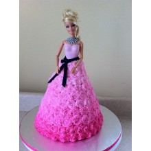 Торт кукла барби (3426)