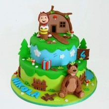 Торт Маша и медведь (3531)