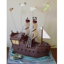 Торт пиратские корабли (3618)