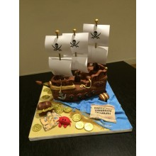 Торт пиратские корабли (3619)