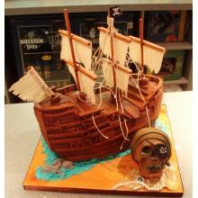 Торт пиратские корабли (3620)