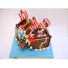 Торт пиратские корабли (3621)