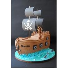 Торт пиратские корабли (3622)
