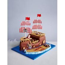 Торт пиратские корабли (3623)
