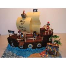 Торт пиратские корабли (3624)