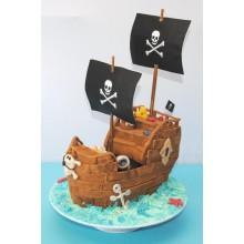 Торт пиратские корабли (3625)