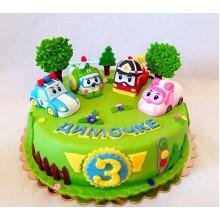Торт Робокары (3642)