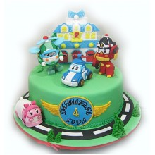 Торт Робокары (3645)
