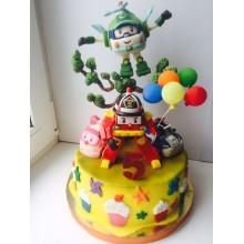Торт Робокары (3646)