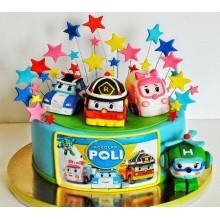 Торт Робокары (3648)
