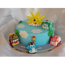 Торт Робокары (3649)