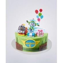 Торт Робокары (3650)