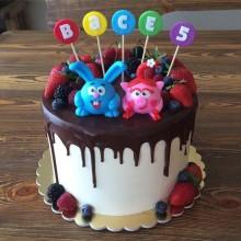 Торт смешарики (3708)